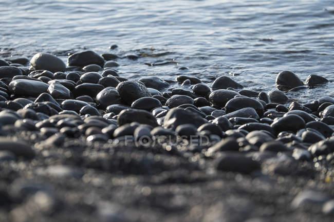 Spain, Tenerife, stones on the beach — Stock Photo