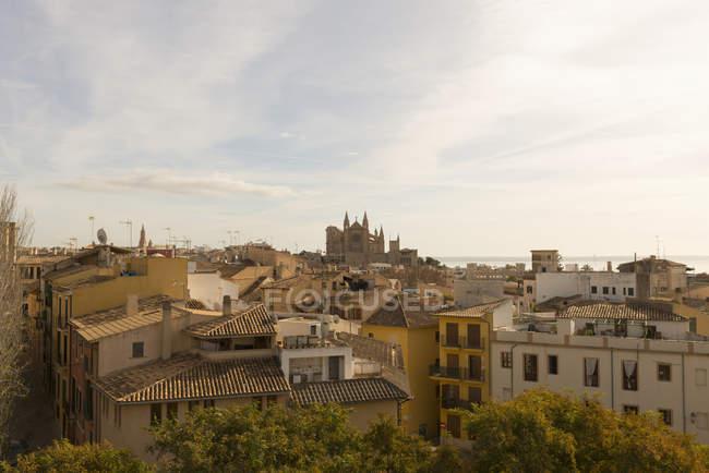 Vista aérea a la ciudad de Palma de Mallorca, España - foto de stock