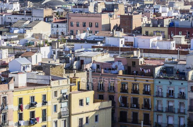 Spain, Barcelona, houses in the city  during daytime — Stock Photo