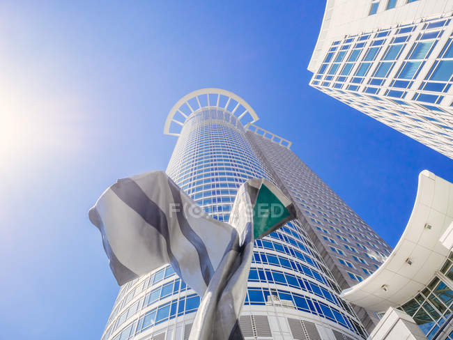 Germany, Frankfurt, Westend Tower against sky — Stock Photo