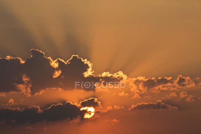 Deutschland, Bayern, Abendsonne, Wolken — Stockfoto