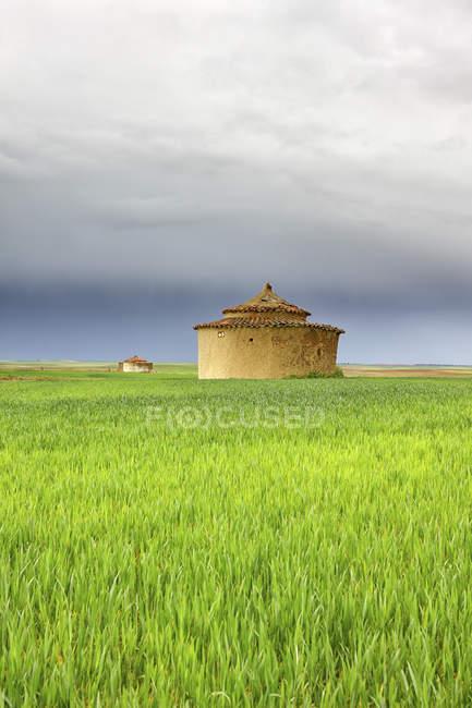 Torremormojn est une commune espagnole de la région de la Terre de Campos, dans les contreforts des montagnes Torozos, dans le sud de la province de Palencia, communauté indépendante de Castille-et-Léon, Espagne — Photo de stock