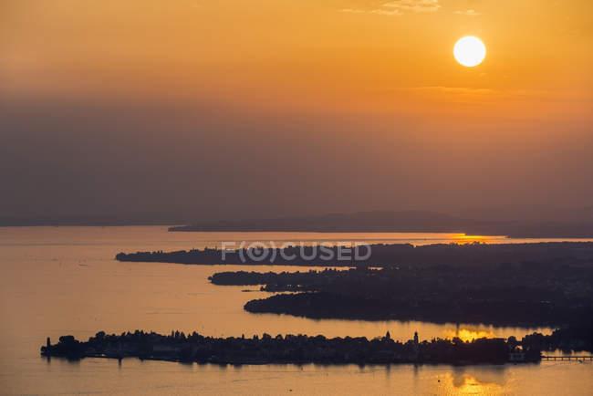 Autriche, Bregenz, Lac de Constance, Vue sur Lindau — Photo de stock
