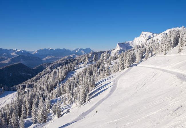 Allemagne, Bavière, Lenggries, domaine skiable à Brauneck — Photo de stock