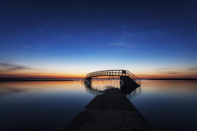 Scotland, East Lothian, Dunbar, the bridge to nowhere, Belhaven Bridge — Stock Photo