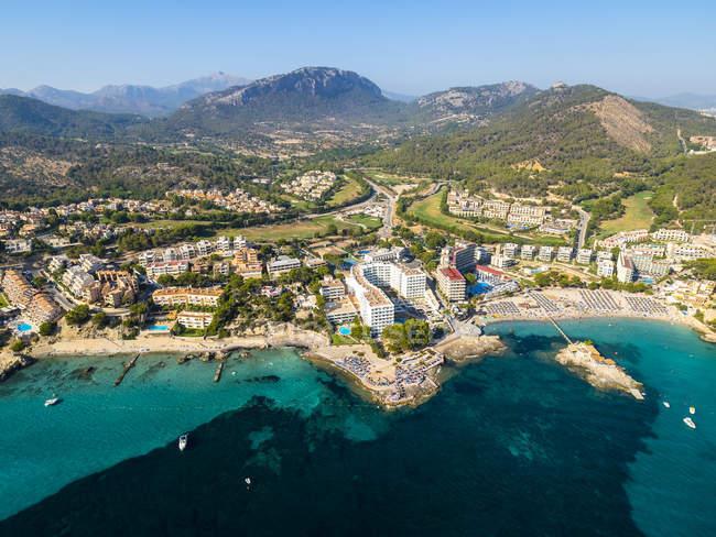 Spagna, Isole Baleari, Maiorca, Camp de Mar, vista aerea — Foto stock