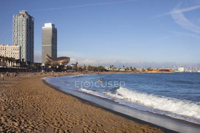 Spain, Barcelona, beach of La Barceloneta — Stock Photo
