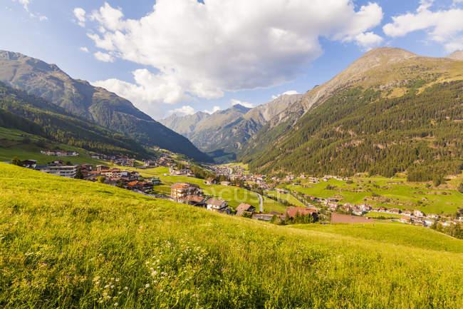 Austria, Tyrol, Soelden, townscape in the mountains — Stock Photo