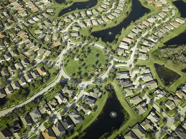 Stati Uniti, Florida, antenna della periferia alloggiamento lungo la sponda occidentale della baia di Tampa — Foto stock