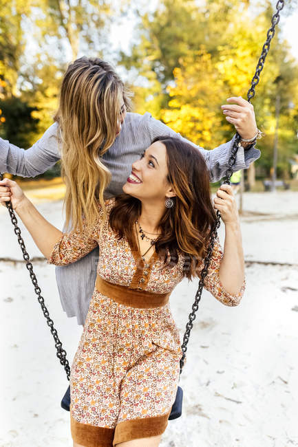 Swinging with best friends are absolutely