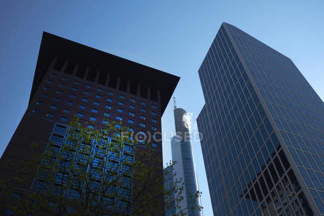 Germania, Francoforte, moderni grattacieli nel distretto finanziario — Foto stock