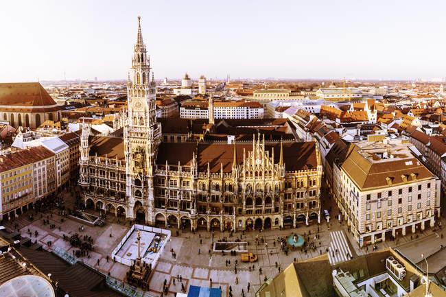 Deutschland, Bayern, München, Neues Rathaus am marienplatz — Stockfoto