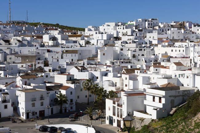 Spanien, Andalusien, vejer de la frontera und weiße Häuser — Stockfoto