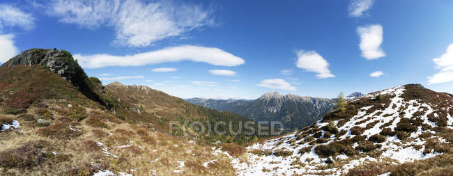 Österreich, Pongau, Großarltal, Blick auf Ellmau Tal, Radstaetter Tauern, Panorama — Stockfoto
