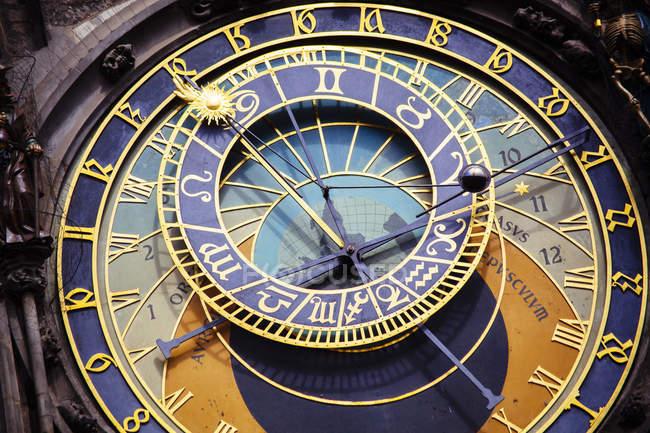 Astronomical clock in Prague, full frame — Stock Photo