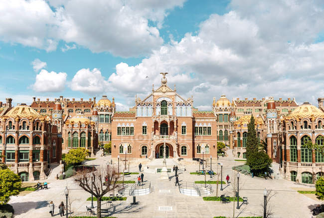 Spain, Barcelona, view to Sant Pau Art Nouveau Site — Stock Photo