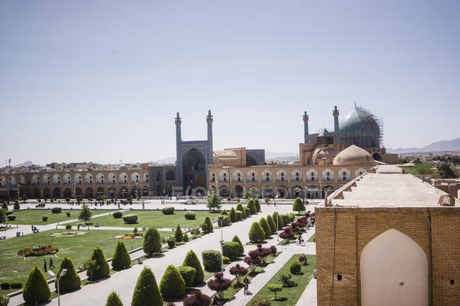 Irã, Isfahan, Praça de Naqsh-e Jahan e Mesquita de Sousa — Fotografia de Stock
