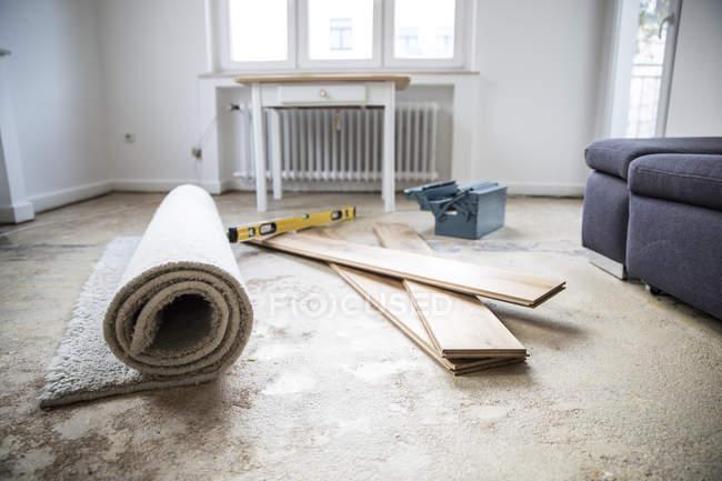 Реновация гостиной — стоковое фото