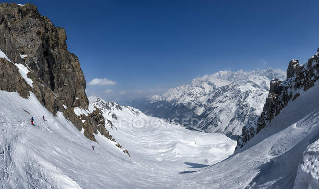 France, Les Contamines, ski mountaineering — стокове фото