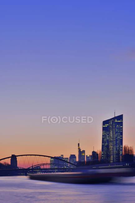 Germany, Frankfurt, Luminale in the city — Stock Photo