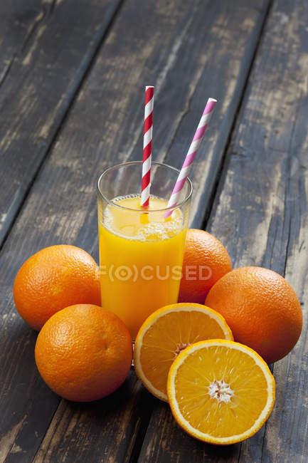 Copo de suco de laranja — Fotografia de Stock