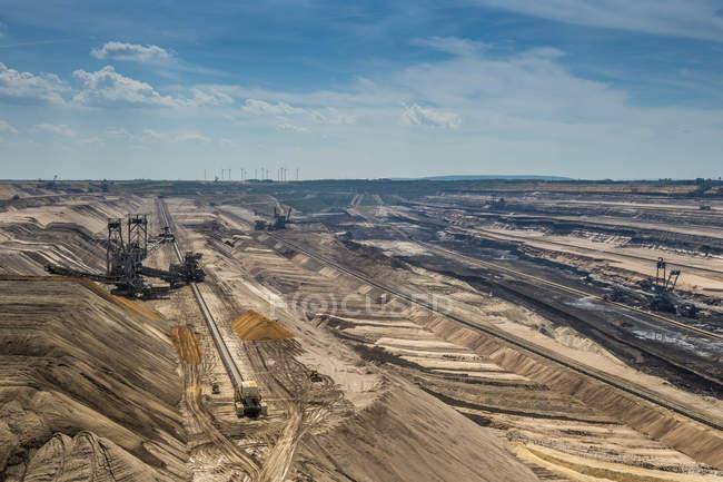 Allemagne, Rhénanie-du-Nord-Westphalie, Borschemich, mine de surface Garzweiler — Photo de stock