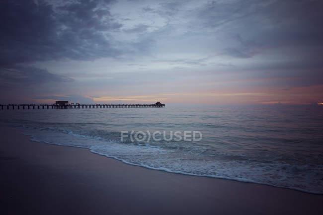 Stati Uniti, Florida, Napoli, molo al tramonto — Foto stock