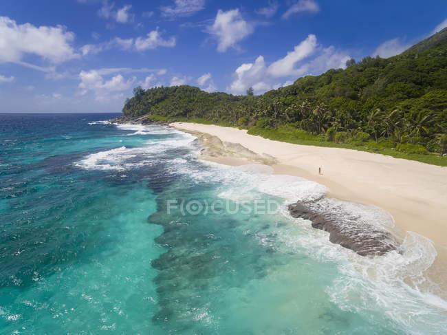 Seychelles, oceano indiano, isola di Mahé, Anse Bazarca, spiaggia — Foto stock