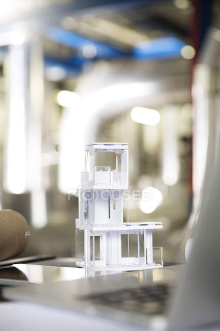 Architectural model in industrial plant — Stock Photo