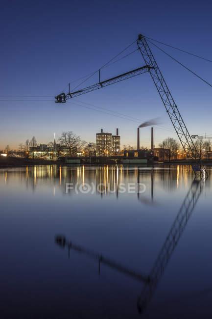 Alemanha, Wolfsburg, Autostadt à noite — Fotografia de Stock