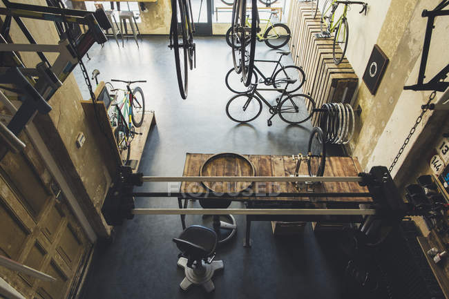 Assortment of bicycles in a custom-made bicycle store — Stock Photo
