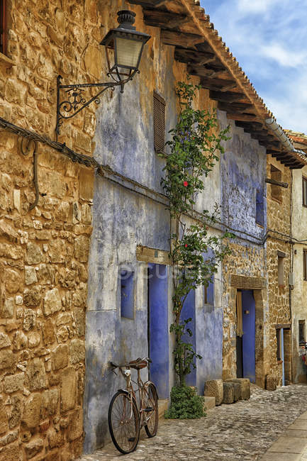 Spain, Teruel province, Matarrana, old houses during daytime — Stock Photo