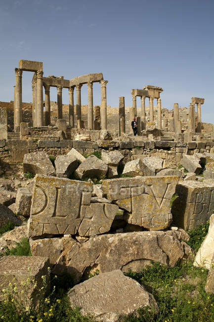 Tunisie, gouvernorat de Beja, ruine romaine de Dougga — Photo de stock