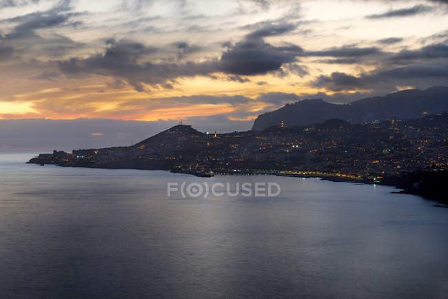 Portugal, Madeira, Funchal at sunset — Fotografia de Stock