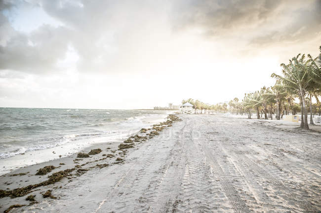 USA, Miami, beach of Key Biscayne on a stormy day — Stock Photo