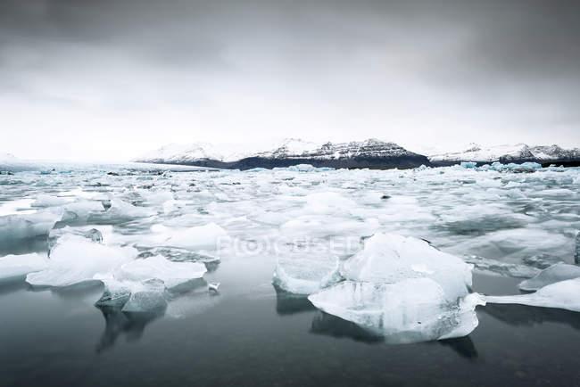 Glaciar e iceberg, Jokulsarlon, Parque Nacional Vatnajoekull, Islândia — Fotografia de Stock