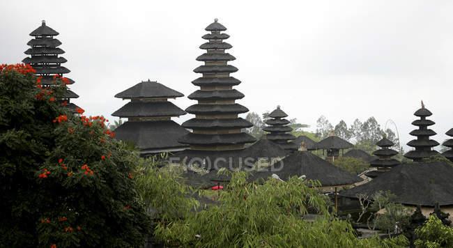 Індонезії Балі, Pura Besakih храм оточений деревами — стокове фото