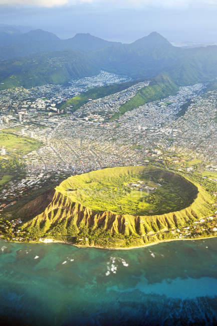 USA, Hawaii, Honolulu, Waikiki, Volcano Diamond Head — Stock Photo