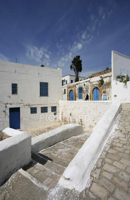 Tunisia, Sidi Bou Said, residential houses  during daytime — Stock Photo
