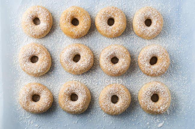 Beignets saupoudrés de sucre glace — Photo de stock
