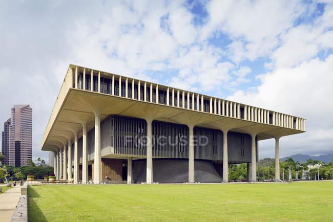 États-Unis, Hawaï, Honolulu, Hawaï Capitole de l'État, siège du gouvernement — Photo de stock