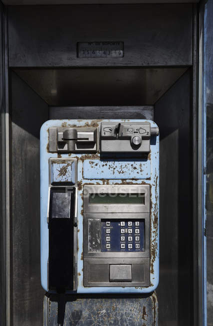 Old pay phone, outdoors — Stock Photo