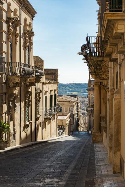 Via Коррадо Nicolaci street — стокове фото