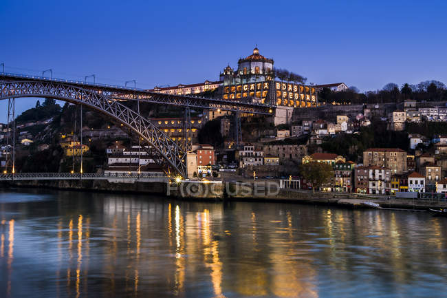 Porto, Luiz I Bridge and Douro river — Stock Photo