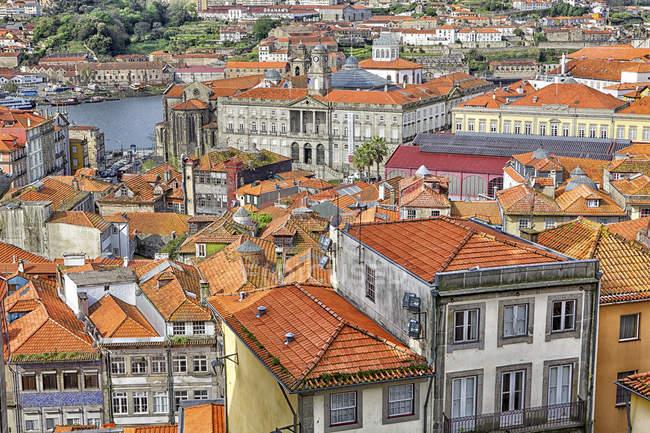 Paesaggio urbano di Porto dall'alto — Foto stock