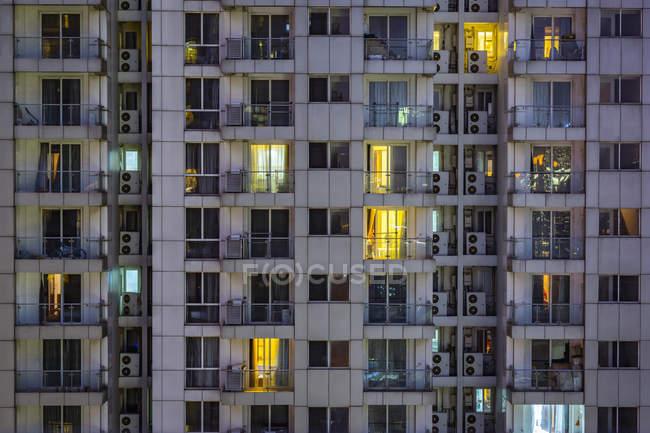 Китай, Шанхай, деталях житлові highrises — стокове фото