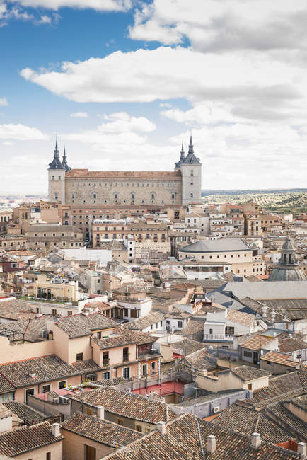 Spain, Toledo, cityscape with Alcazar as seen from the cathedral — Stock Photo