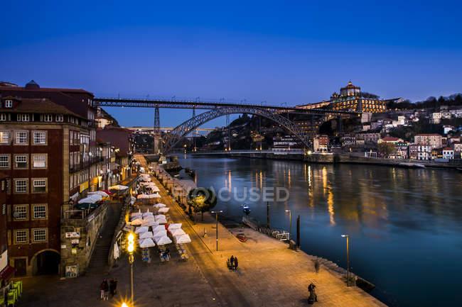 Ponte Luiz I e fiume Douro — Foto stock