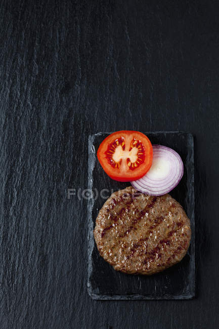 Fried beef burger — Stock Photo