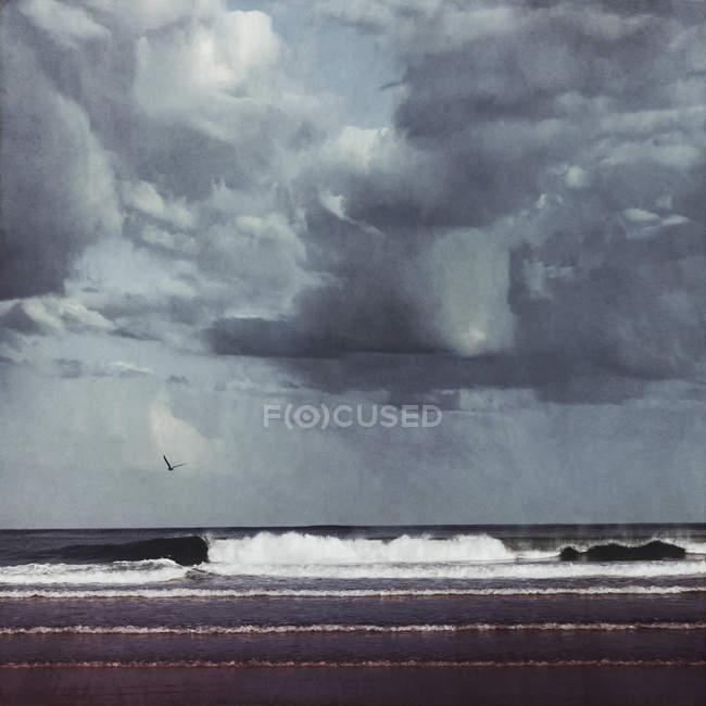 France, Contis-Plage, cloudscape over the Atlantic — Stock Photo